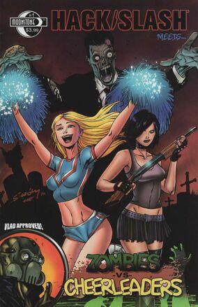Hack slash meets zombie vs cheerleaders cover a by Tim Seeley