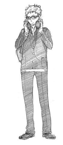 File:Kei Tsukishima Sketch.png