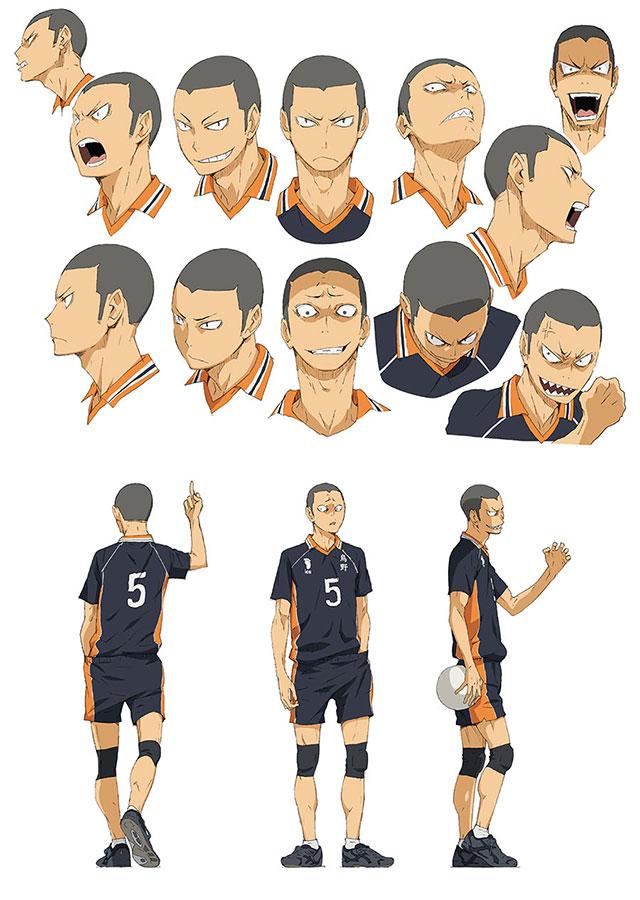 Character Design Wiki : Image tanaka character design g haikyuu wiki