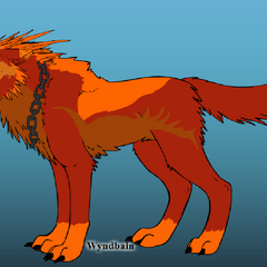 Everburn's wolf form.