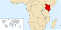 Location of the Republic of Kenya