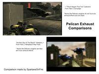 Pelican Exhaust Comparisons