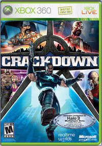 Halo 3 Beta marked Crackdown box art