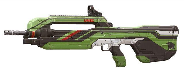 File:H5G Render-Skins GreenMachineBattleRifle.jpg