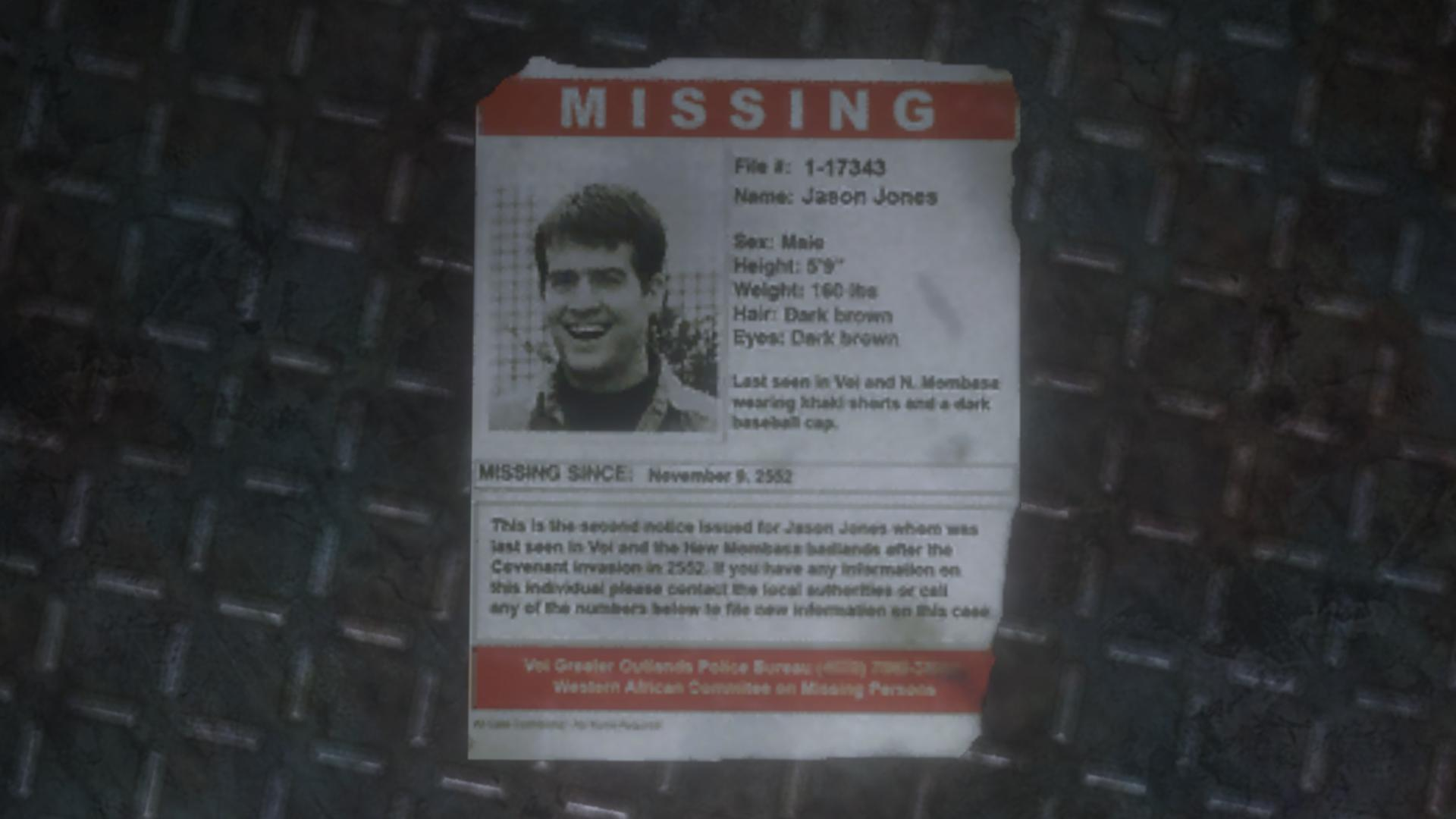 Missing Person Poster Halo Nation – Missing Person Poster