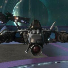 从前方看到的军刀战斗机。