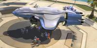 Unidentified civilian cargo ship