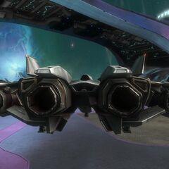 从后方看到的军刀战斗机。