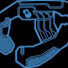 Eine Blaupause des Typ-25 Plasmapistole