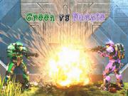 Green vs Purple Logo