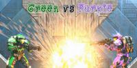 Green vs Purple
