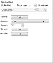 Checkvariable setting