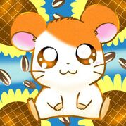 Hamtaro-sunflower-background