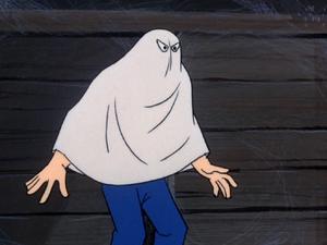 Phony phantom (Haunted House Hang-Up)