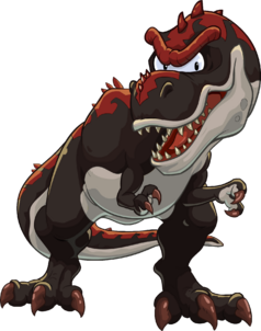 Black and Red T-Rex from Club Penguin