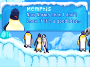 Memphis asks Norma Jean about Mumble graduating in the GBA Game