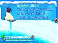 Norma Jean in the belly slideing lesson in the GBA Game