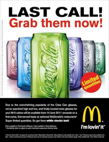 File:McD Malaysia Coca-Cola can glasses 2011 searched high and low.jpg