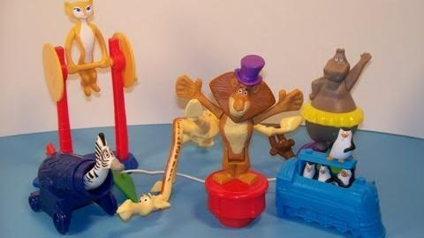 2012 MADAGASCAR 3 FULL SET 1-6 McDONALDS HAPPY MEAL MOVIE TOY'S VIDEO REVIEW