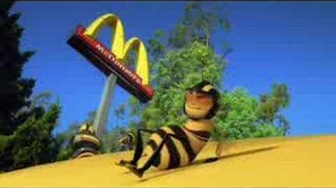 McDonalds's Japan Happy Set Bee movie toy Japanese TVCM