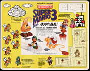 McDonald's Trayliner Placemat -Super Mario Bros. 3 Happy Meal 1990