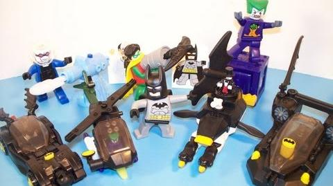 2008 LEGO BATMAN THE VIDEO GAME SET OF 8 McDONALD'S HAPPY MEAL TOY'S VIDEO REVIEW-0