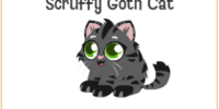 Scruffy Goth Cat