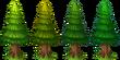 Decoration Fir Tree Colors