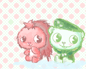 Flaky and Flippy by un osito de nieve