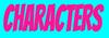 Characterszbar