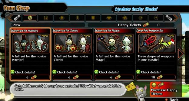 Happy Wars Item Shop