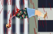 Falling dead body