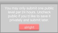 24 hour level delay?