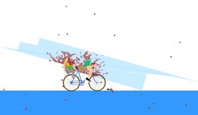 Happy Wheels glass panel stabbing character
