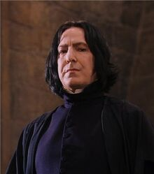 Snape smiling