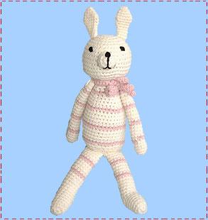 Pink crochet bunny 310