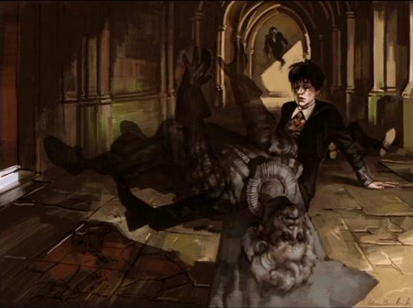 File:Nicholas de Mimsy-Porpington petrified by the Basilisk (Concept Artwork 01).JPG
