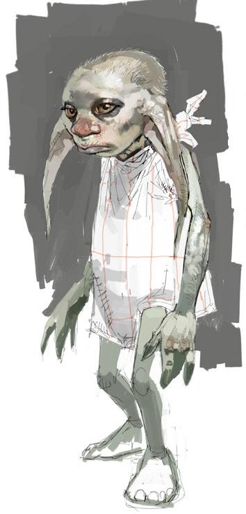 House-elf, Winky (Concept Artwork for the HP4 film)
