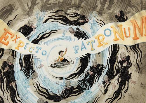 File:Size500 harrypotter expectopatronum detail11 40 Beautiful Harry Potter Art and Illustration Tributes.jpeg