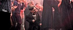 Flitwick cheering for Fred and George