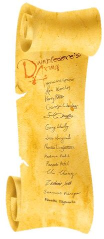 File:Dumbledore's™ Army Scroll with Member List on Parchment.JPG