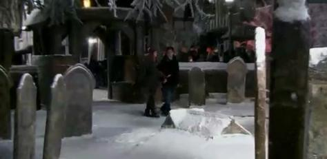 File:Harry and Hermione at Godric's Hollow cemetery 02.JPG