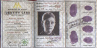 Ministry of Magic Identity Card