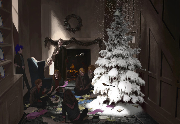 File:Christmas at 12 Gimmauld Place (Concept Artwork).jpg