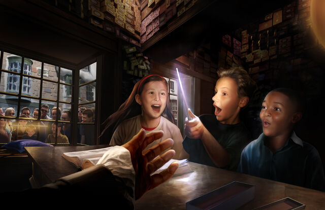 File:Ollivander's Shop with Visitors (WWoHP).jpg