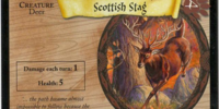 Scottish Stag (Trading Card)