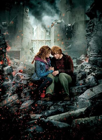 File:TDHp2 Textless Poster Hermione Ron.jpg