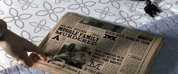 Daily Prophet reports Muggle Family murdered