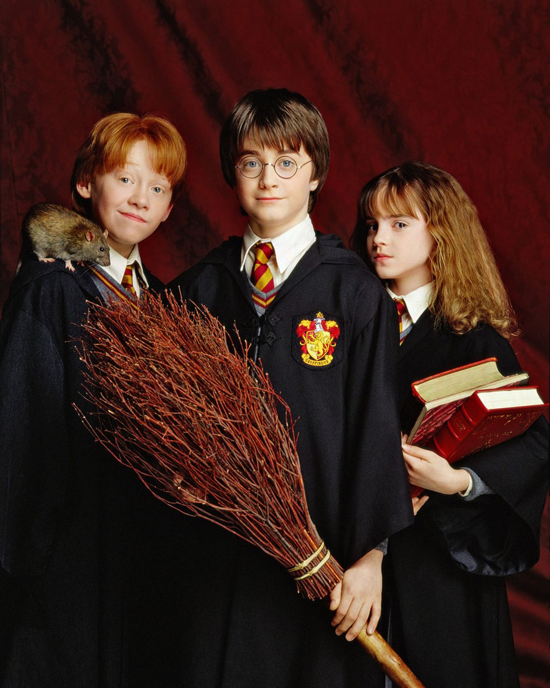 File:Trio in their younger days Harry, Ron and Hermione.jpg