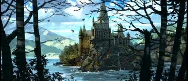 File:Hogwarts castle - view from the Forest 02 (Concept Artwork).JPG